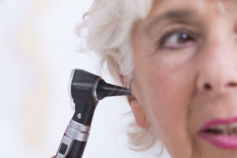 Ear Exam Elderly Female Patient Gateway ENT St Louis MO