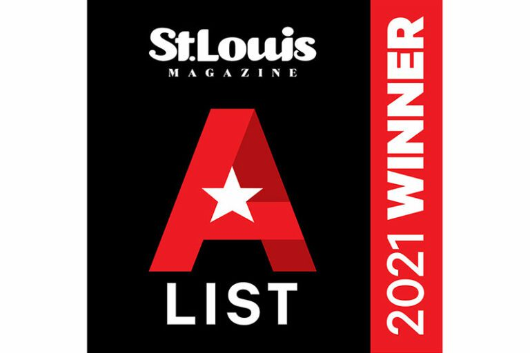 St Louis Magazine Gateway ENT Best Audiology Center 2021 A LIST winner badge black